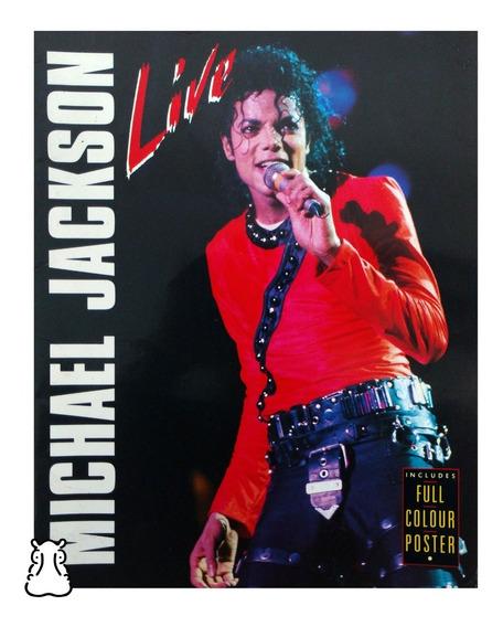 Revista Michael Jackson Live Importada Com Pôster