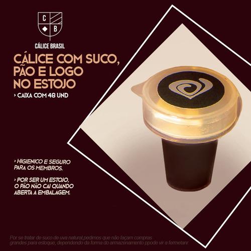 Imagem 1 de 2 de Cálice Para Santa Ceia, Com Pão, Suco E Logo.