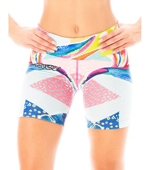 Short Calza Lycra Sublimado Fitness Running Crossfit Touche