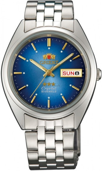 Relogio Masculino Orient Automatico Azul Claro Original