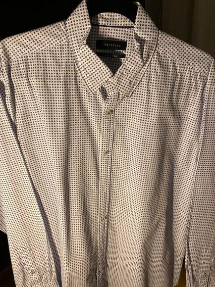 Camisa Corte Fiel Hombre Manga Larga