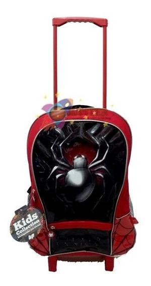 Mochila C/ Rodinha Spider - Kids Collection - Rocie