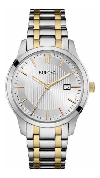 Relógio Bulova Masculino Wb22444b Misto Aço Analogico