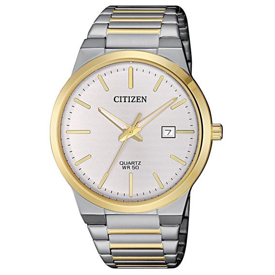 Reloj Citizen Plateado Con Dorado De Caballero Bi5064-50a Acero Original