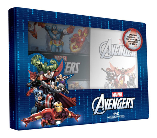 Imagem 1 de 3 de Vingadores  The Avengers: Livro + Camiseta