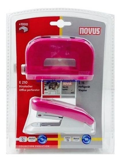 Set Abrochadora Y Perforadora Novus + Broches D Regalo Color