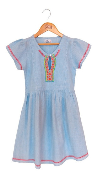 Vestido Nena Manga Corta Bordado Happy Day Witty Girls Edu