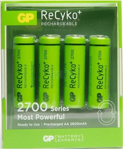 Pilas Recargables Gp 2700 Aa Recyko+ Blister X4 U 2600 Mah