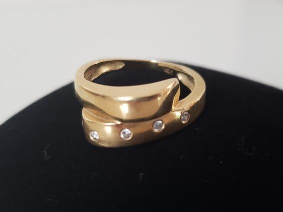 Anel Ouro Amarelo Diamantes 750 18k Usado Manoel Bernardes