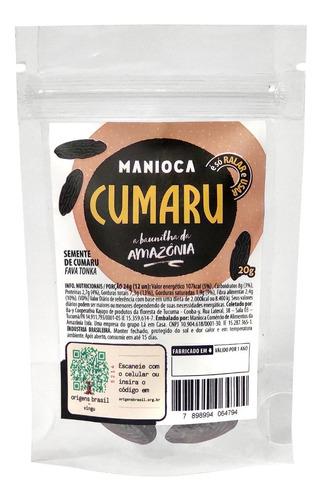 Semente De Cumaru 20g Manioca - 100% Natural E Vegana