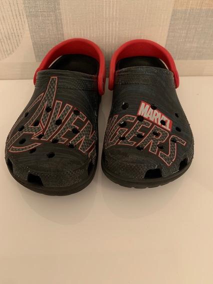 Crocs Original Marvel Avengers Preto (usado)