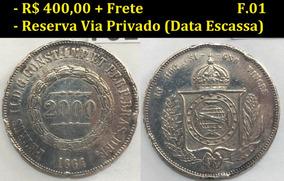 2000 Réis De 1864 - Mbc - Prata - Moeda Do Império