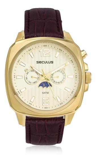 Relógio Masculino Seculus Analógico 23528gpsvdc1 Marrom