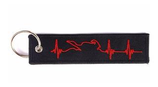 Chaveiro Personalizado Remove Before Batimento Cardíaco- Red