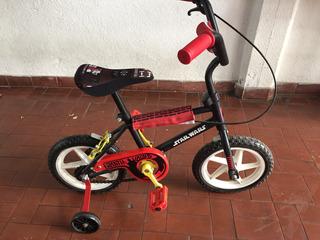 Bicicleta Starwars Rodado 12 Con Rueditas