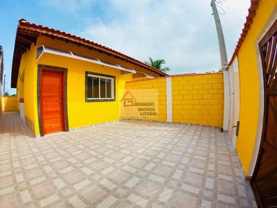 Casa Nova Na Praia De Itanhaém 2 Dormitórios. Financie Caixa