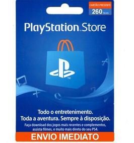 Cartão Presente Psn Crédito R$ 260 Brasileira Brasil Ps3 Ps4