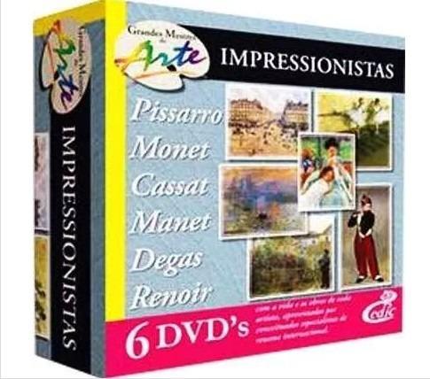 Grandes Mestres Da Arte - Impressionistas 6 Dvd