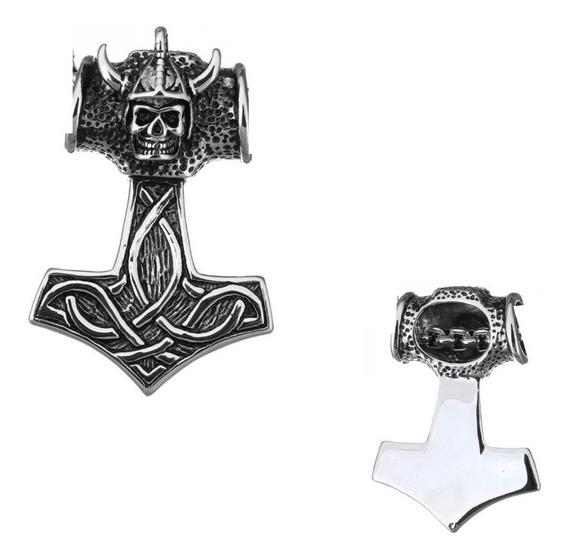 Colar Martelo De Thor - Viking - Mjölnir - Elmo - Caveira