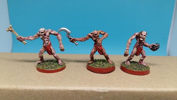 3x Ghouls (2)- Warhammer - D&d Rpg Jogo De Dados Miniatura