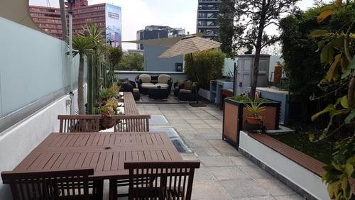 Renta Amueblado En Condesa Con Roof Garden Privado