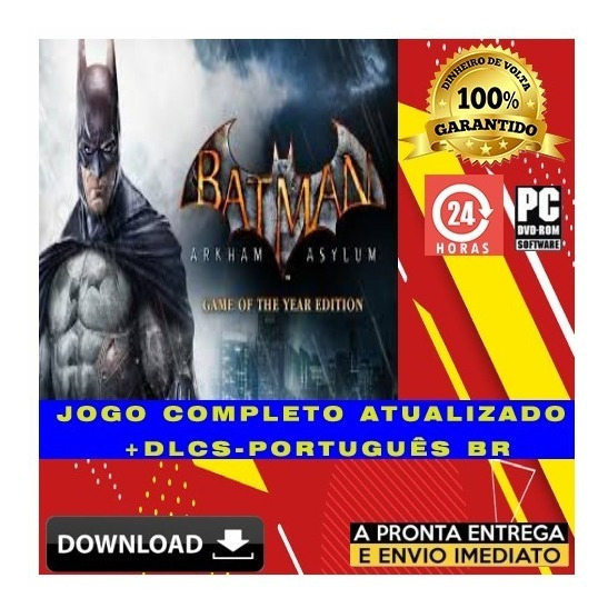 Batman: Arkham Asylum - Game Of The Year - Digital + Brinde