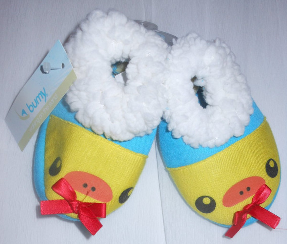 Bonitas Pantuflas Para Bebé 10-11cm Pollito