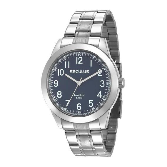 Relógio Seculus Masculino Ref: 28937g0svna2 Casual Prateado