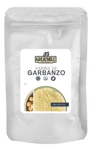 Imagen 1 de 3 de Harina De Garbanzo Great Mill Sin Azúcar Para Dieta Keto 1kg