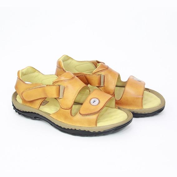 Sandália Sapatilha Sapato Masculino Couro Bege