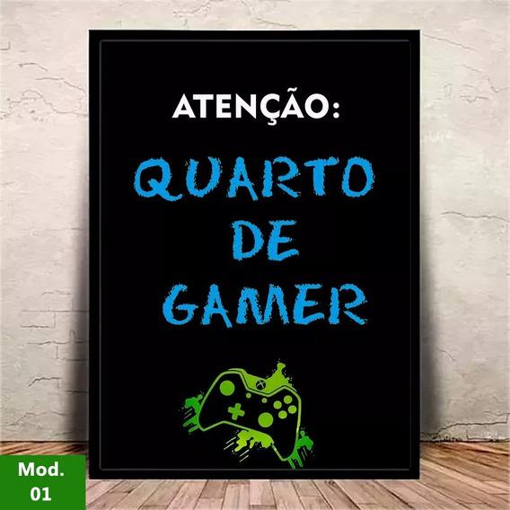 Quadro C/ Vidro Quarto De Gamer Xbox Decoração Geek #1
