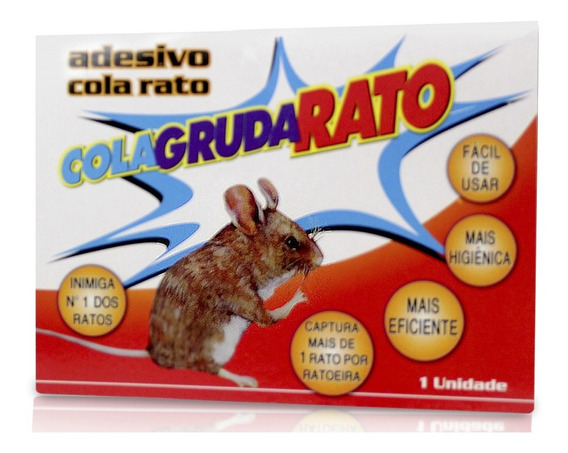 Ratoeira Adesiva Cola Matar Grudar Ratos Armadilha
