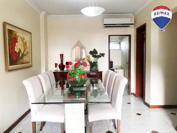 Apartamento Com 3 Dormitórios, 140 M² - Nazaré - Belém/pa - Ap0518