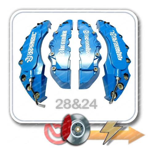 4 Cubre Caliper Universal 3d Azul 2 De28 2 De24 Tuningchrome