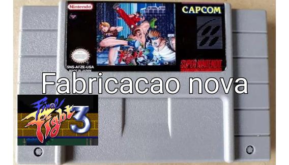 Final Fight 3 - Super Nintendo Snes Ff3 Fita Cartucho Fita