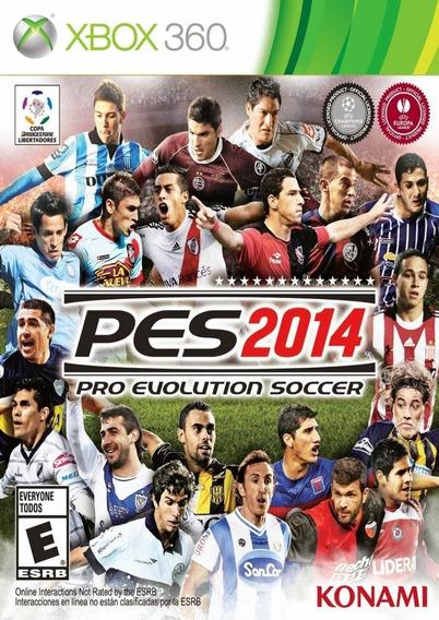 Jogo Pes 2014 Pro Evolution Soccer 14 Xbox 360 Mídia Física
