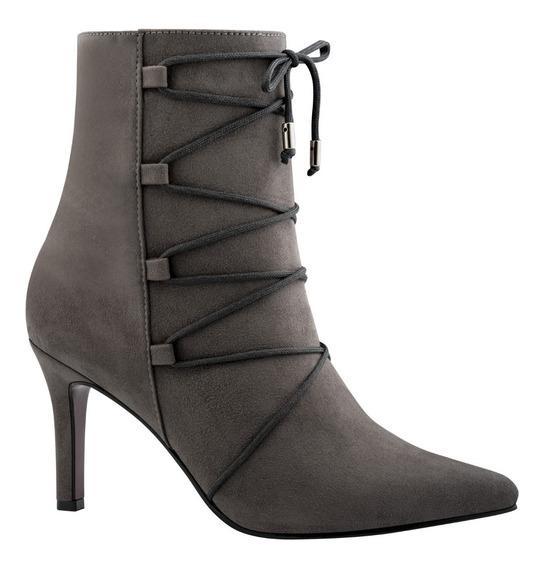 Zia Zapatos Botines Tacon Agujetas Cruzadas Vestir 3151371