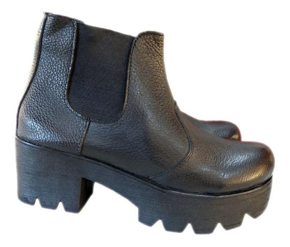 Botineta Bota Dama Mujer Niña Cuero -borcego- Zapatos