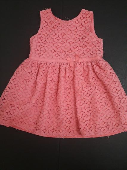 Vestido De Niña Carter´s Talla 12m Rosa