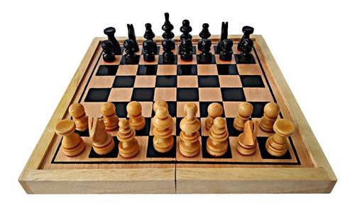 Ajedrez #5 Madera 45x45x4 Cm Artesanal No.5 Profesional