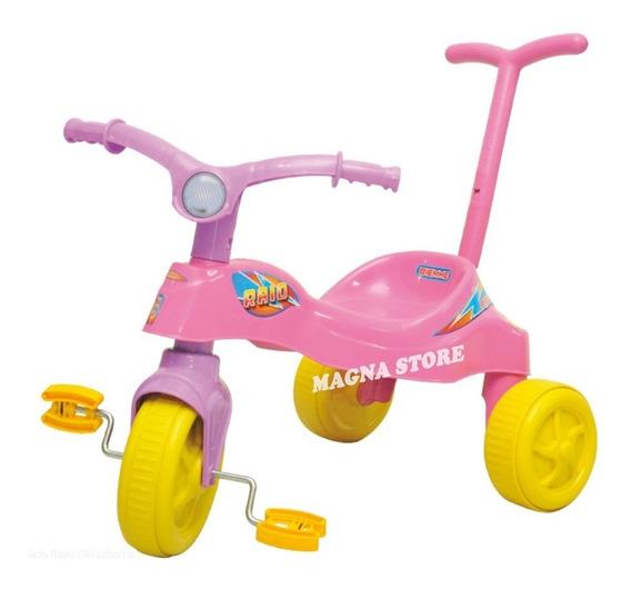 Triciclo Plastico Economico Barral Rayo Girl Biemme 1a3 Años