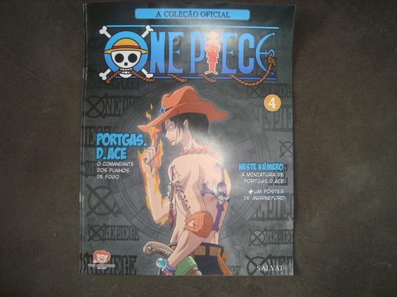 Coleção Oficial- One Piece- Encarte 4- Portgas-com Poster
