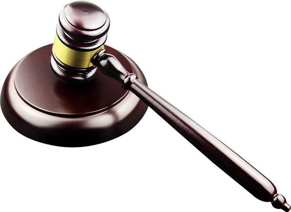 Mazo De Madera, Martillo Ideal Para Jueces,abogados,subastas