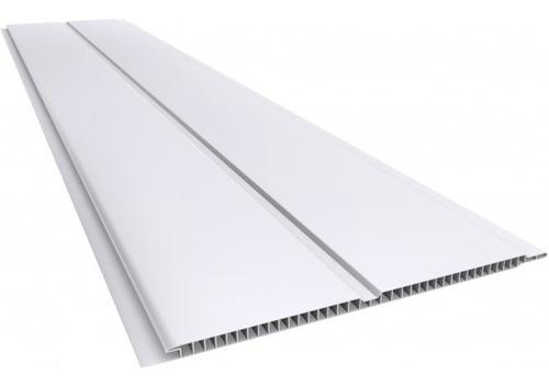 Cielorraso Pvc Blanco Tablilla 20cm 6m Largo 7mm Superf Liso
