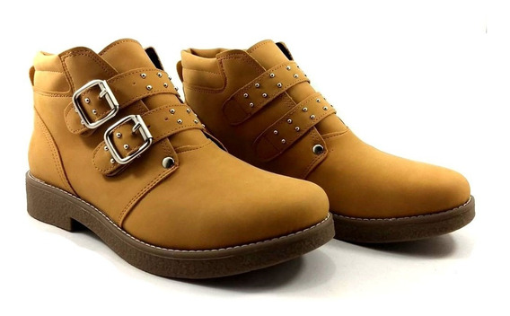 Bota Botita Mujer Hebillas Zapatos Confort Ky West Kia