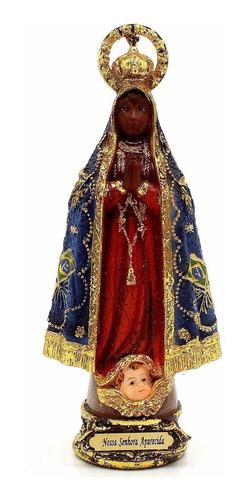 Imagem Escultura Nossa Senhora Aparecida 13cm