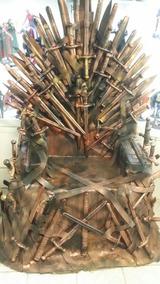 Réplica Trono De Ferro Game Of Thrones Tamanho Real