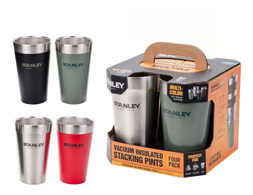 Set De Vasos Termicos Stanley Pack X 4 473ml