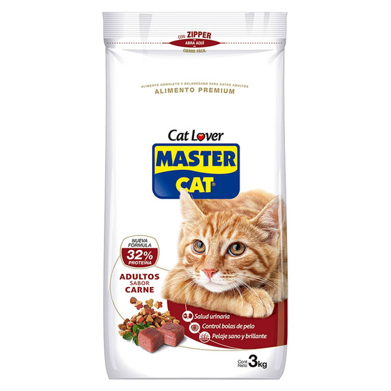 Alimento Gato Adulto Carne 3 Kg - Master Cat