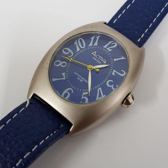 Relógio Masculino Activa Quartz Swiss Movement Azul